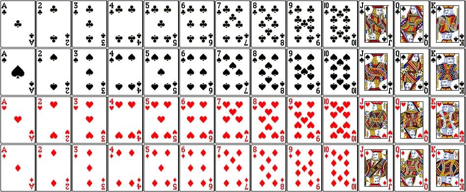 Baraja de cartas en el Blackjack