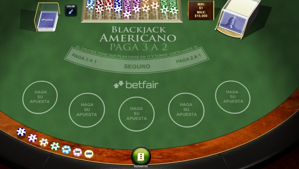Blackjack Americano Betfair- Contar cartas