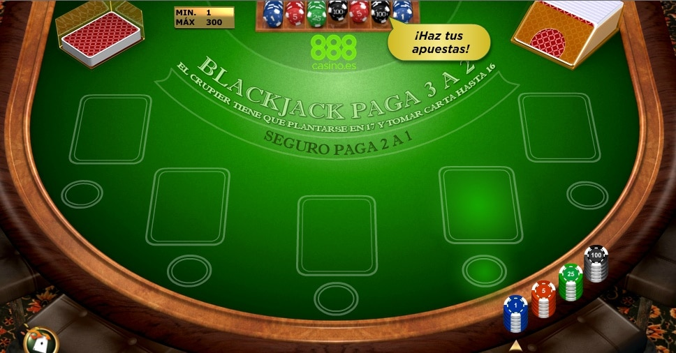 Blackjack Europeo 888Casino