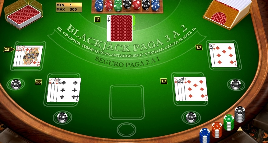 Jugada de Blackjack