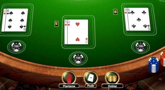 Pedir y doblar en el Blackjack