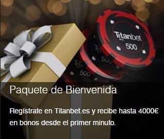 Titanbet paquete de bienvenida