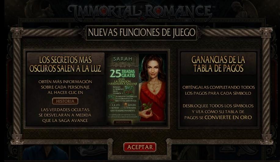 Immortal Romance premios