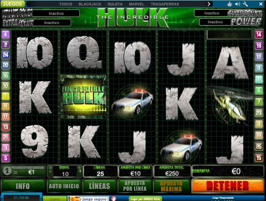 The incredible Hulk jugando