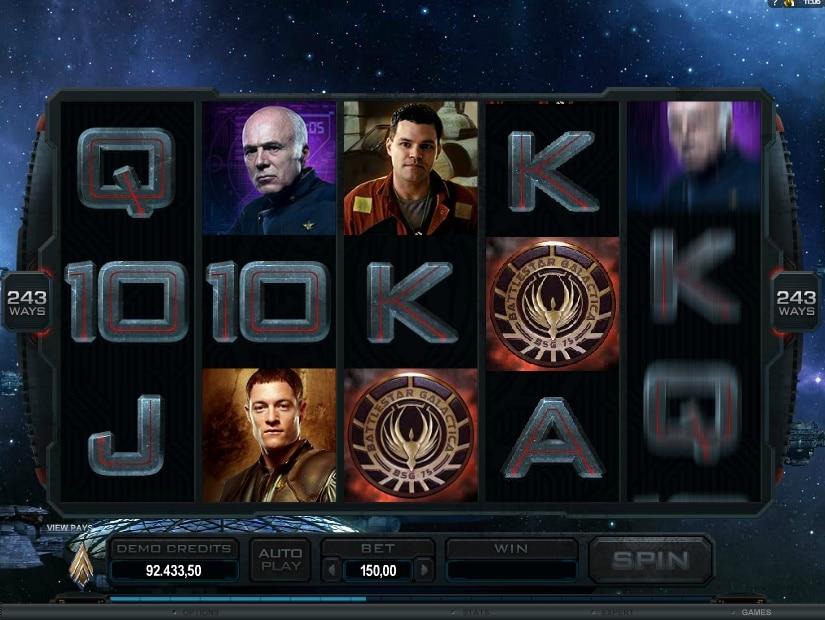 Battlestar Galactica jugando