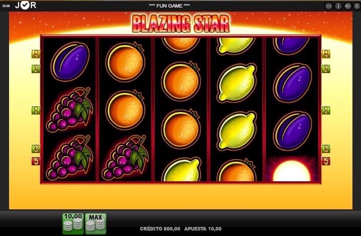 Blazing Star jugando