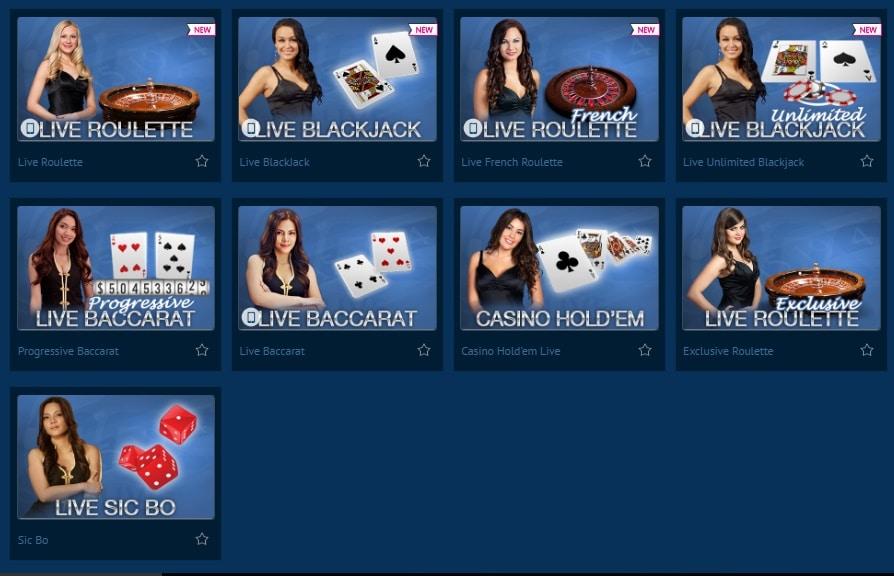 Europa Casino en vivo