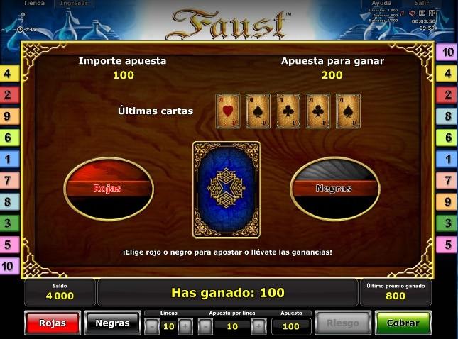 Faust premio riesgo