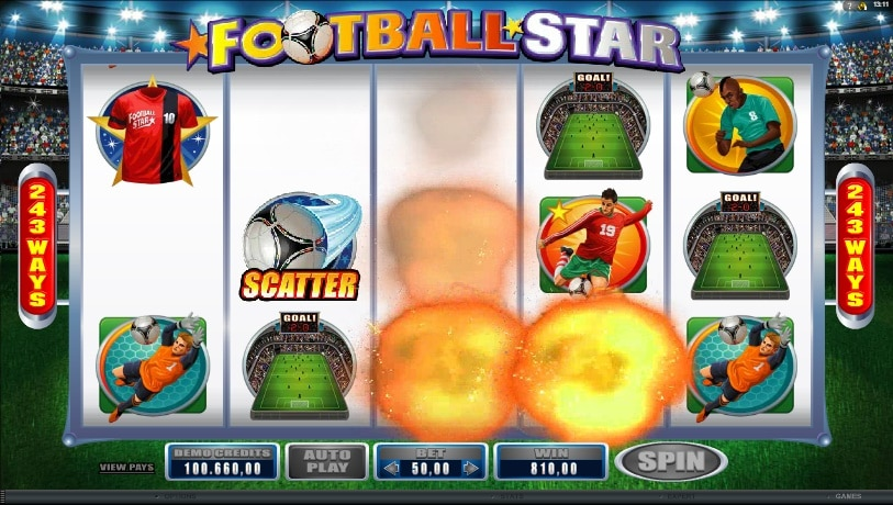 Football Star explotando premios