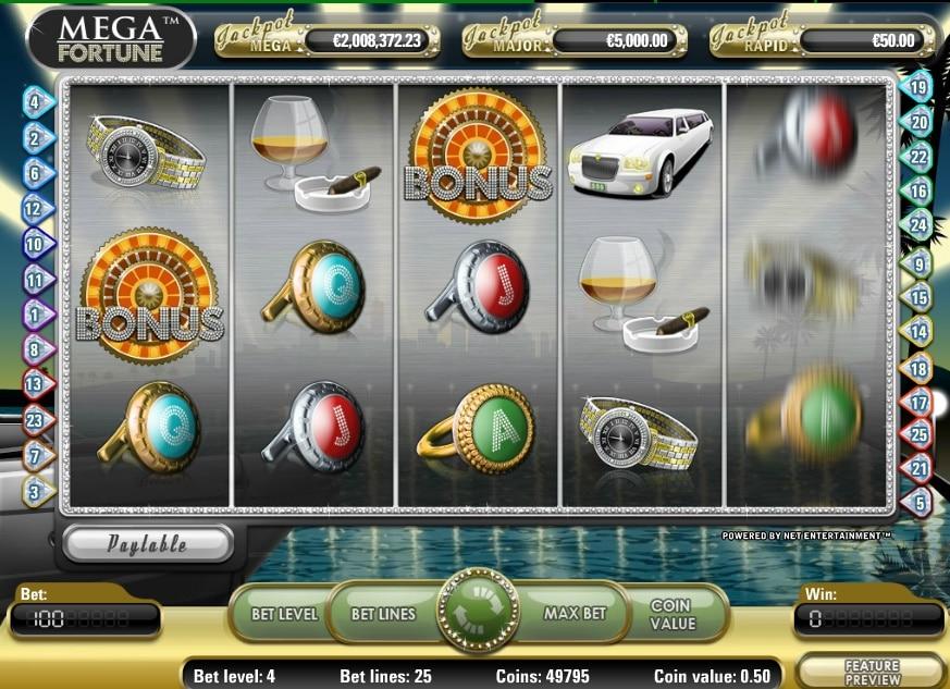Mega Fortune jugando
