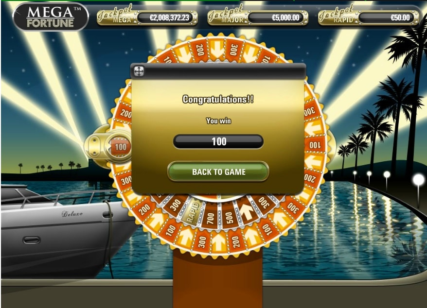 Mega Fortune ruleta