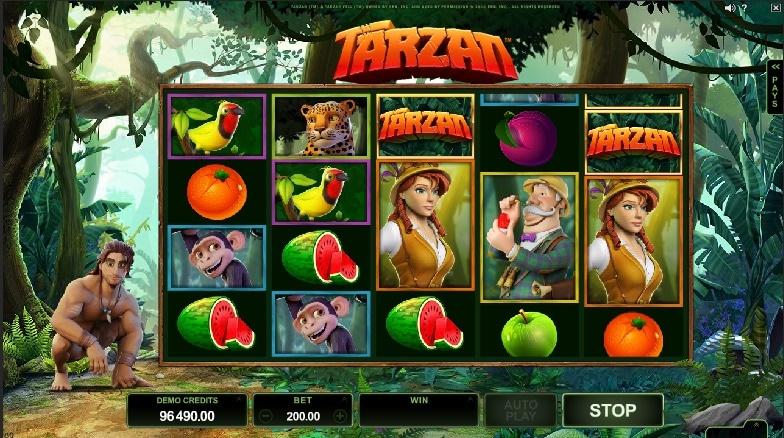 Tarzan jugando