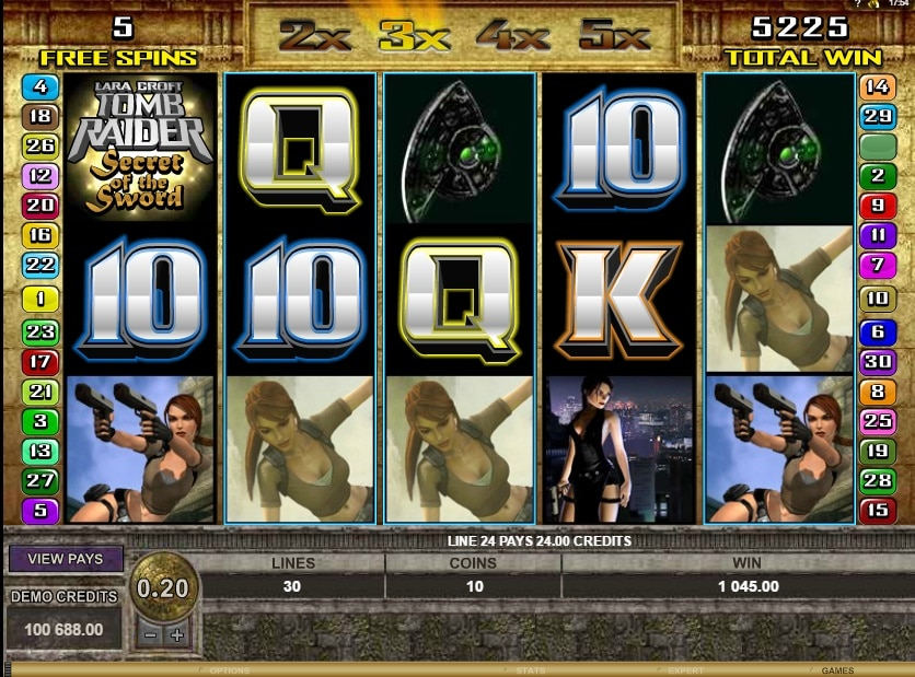 Tomb Raider free spins
