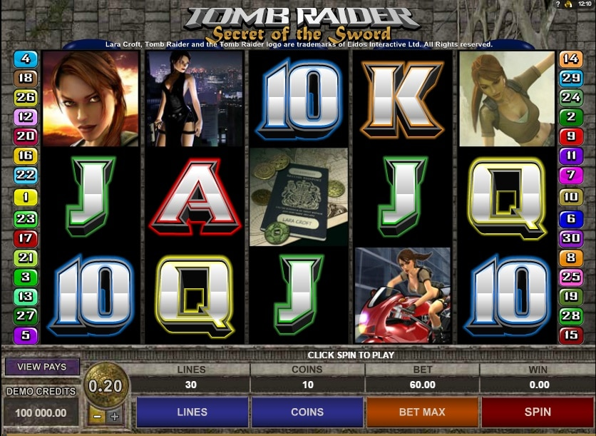 Tomb Raider II tragaperras