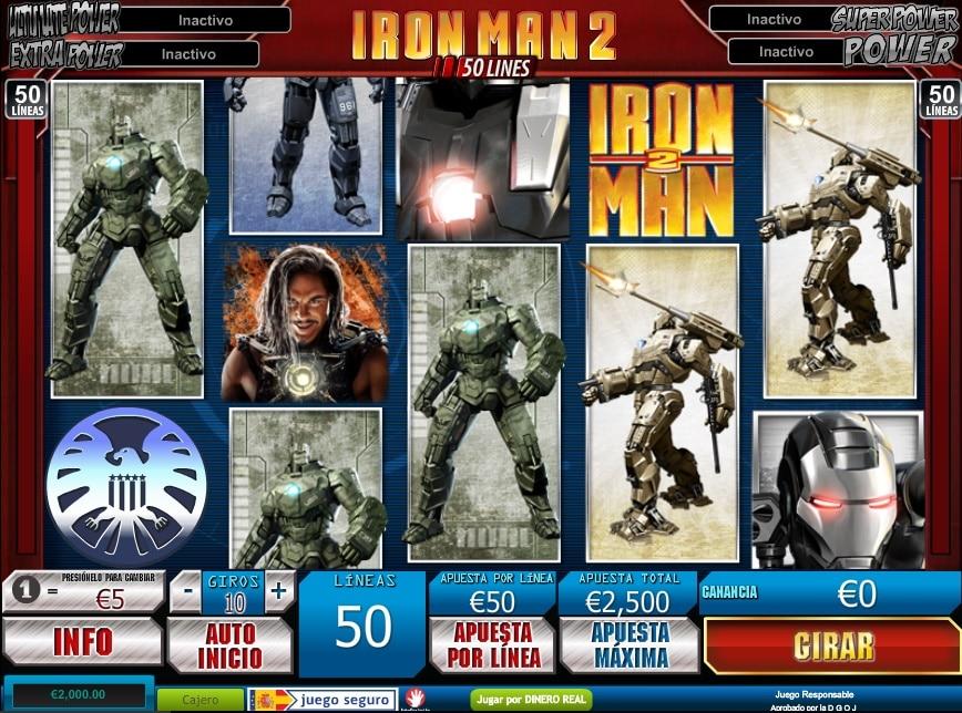 Iron Man 2 tragaperras