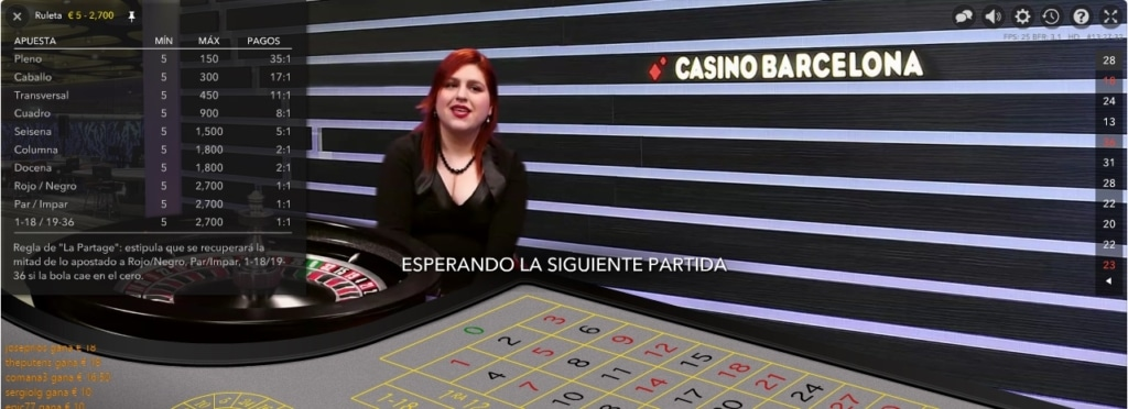 Límites altos en Casino Barcelona