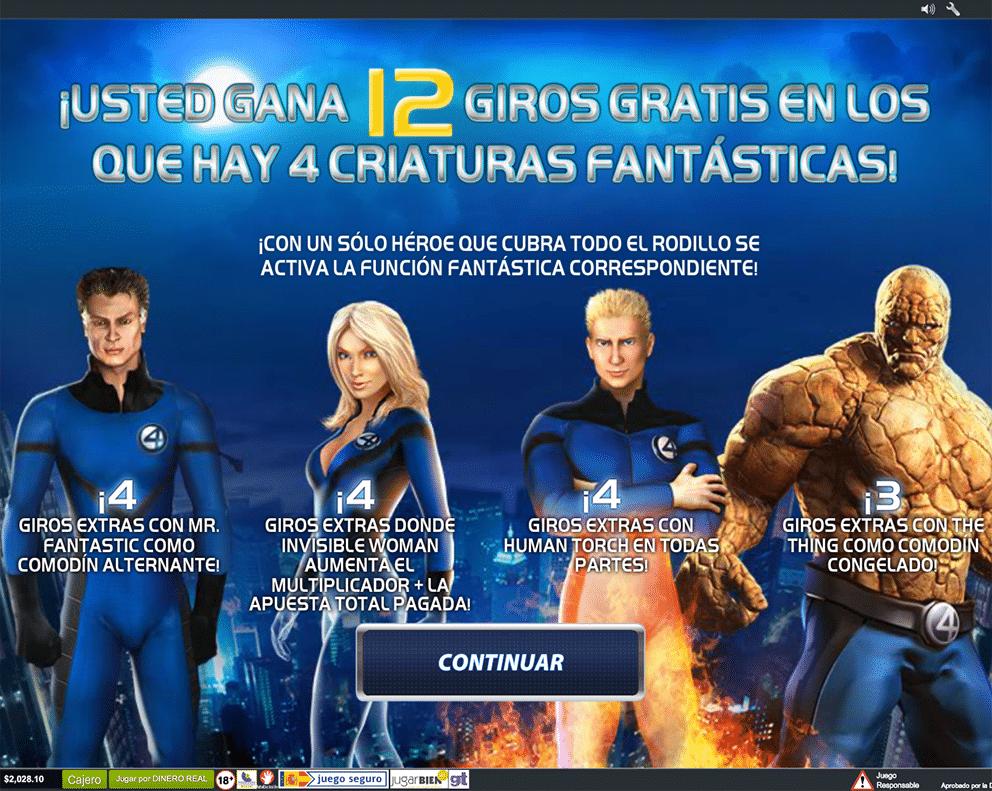 Los Cuatro Fantásticos Playtech