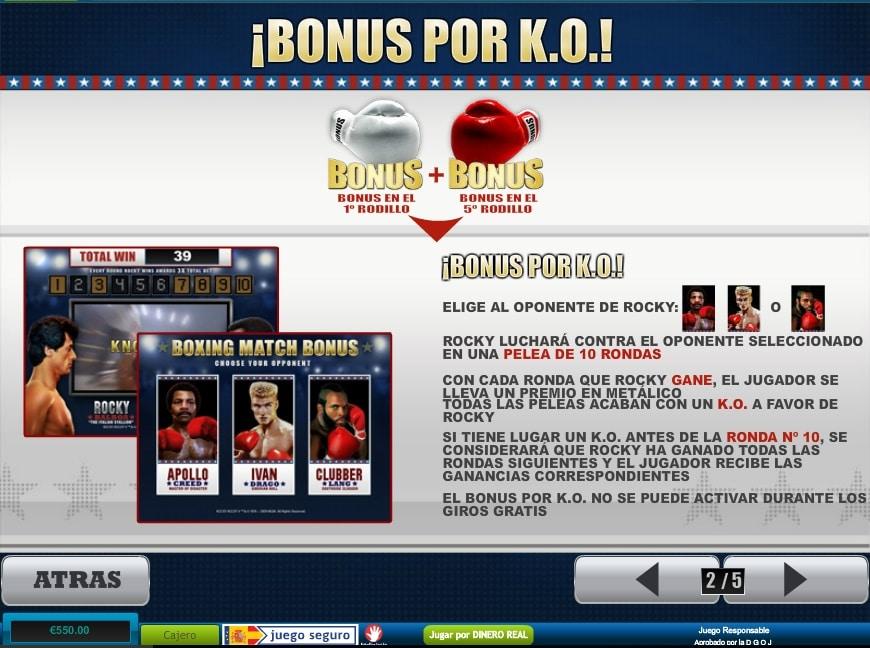 Rocky bonus por KO
