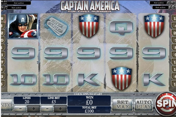 Captain America tragaperras