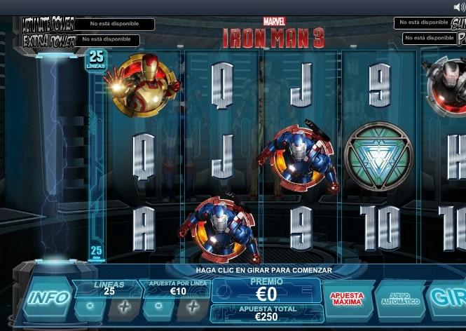 Iron Man 3 tragaperras
