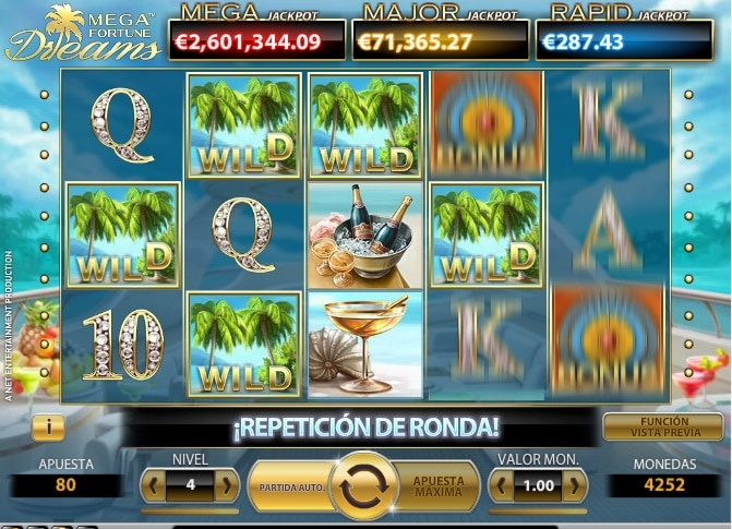 Mega Fortune Dreams Repetición de Ronda