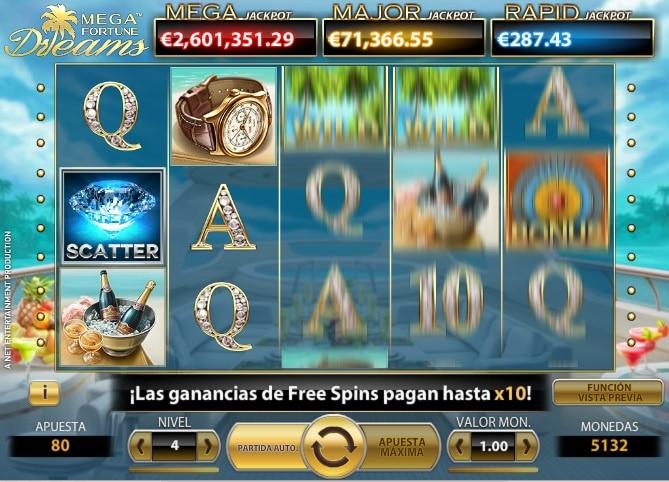 Mega Fortune Dreams jugando