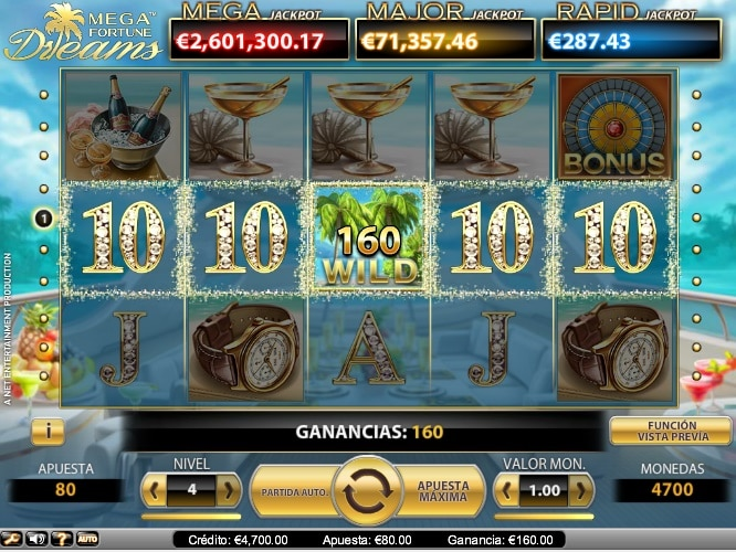Mega Fortune Dreams premio