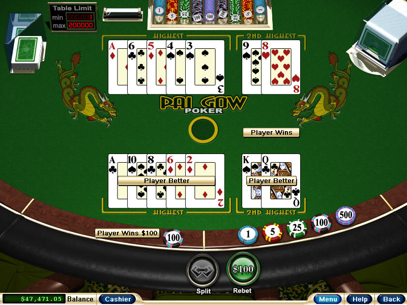 Pay Gow poker online