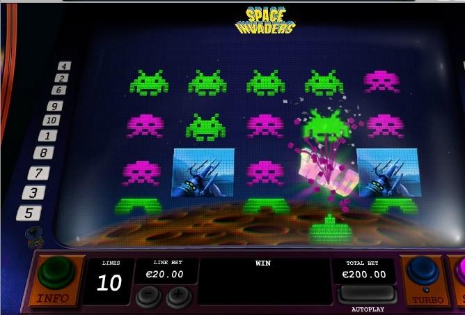 Space Invaders disparando