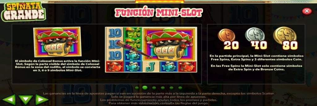 Spiñata Grande mini-slot