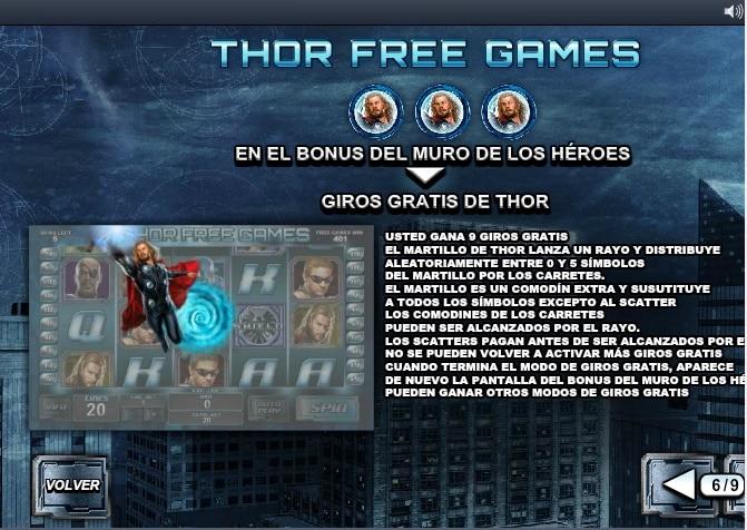 The Avengers juego de bonificación