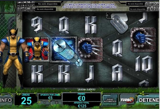 Wolverine jugando