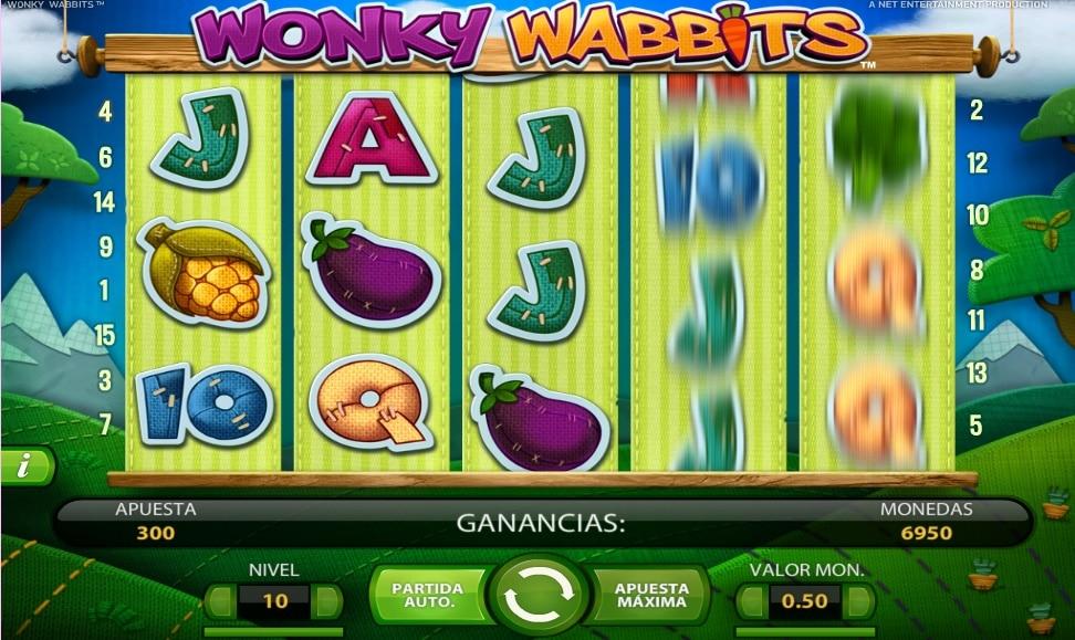 Wonky Wabbits jugando