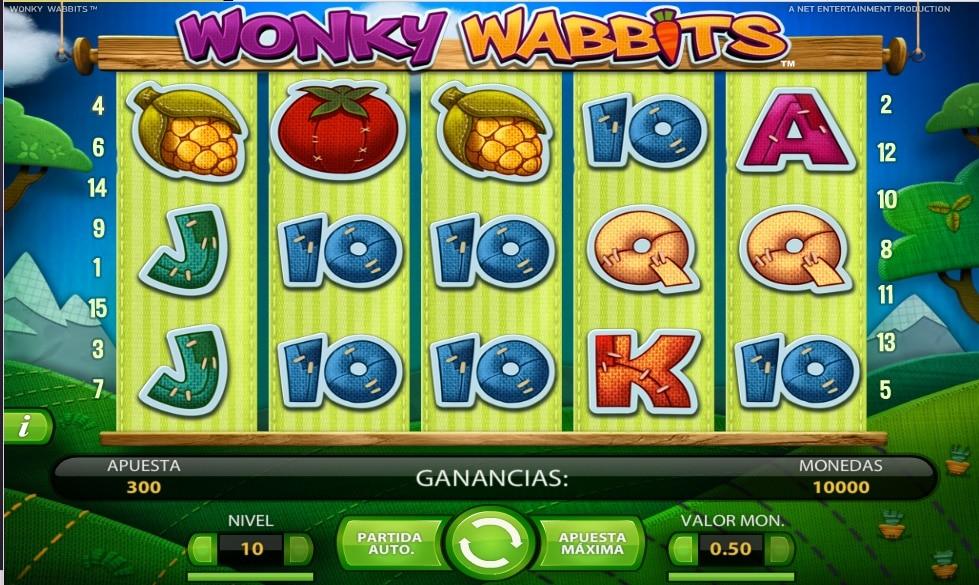 Wonky Wabbits tragaperras