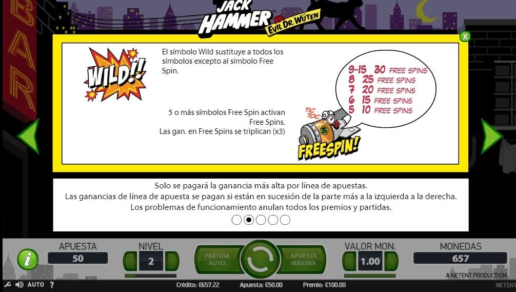 Jack Hammer free spins
