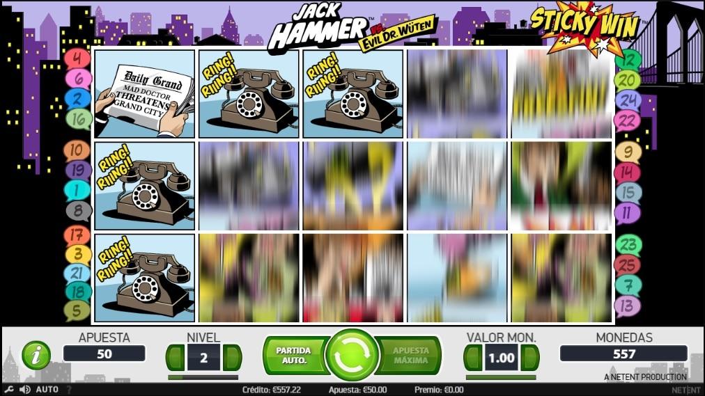 Jack Hammer tiradas premio