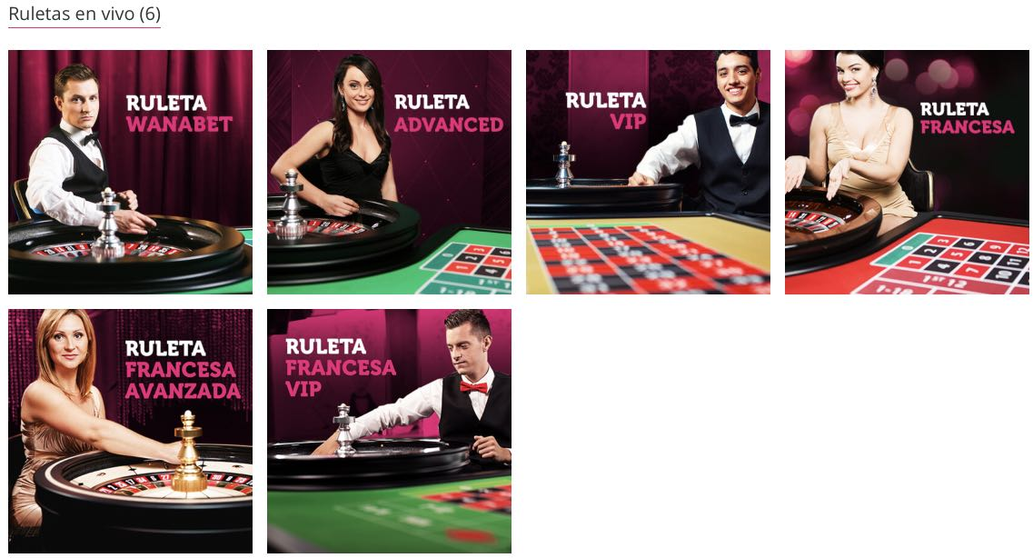 Ruleta en vivo