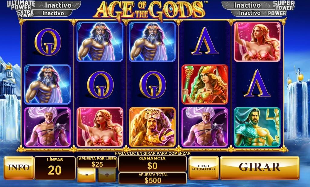 Age of the Gods máquinas tragaperras