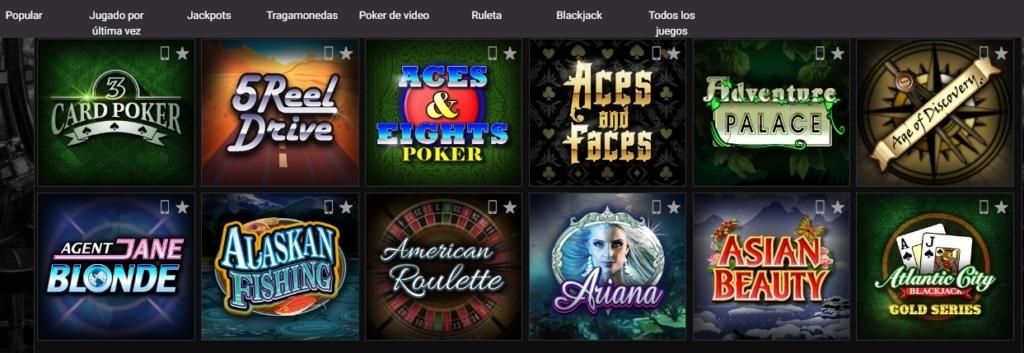 JackpotCity juegos