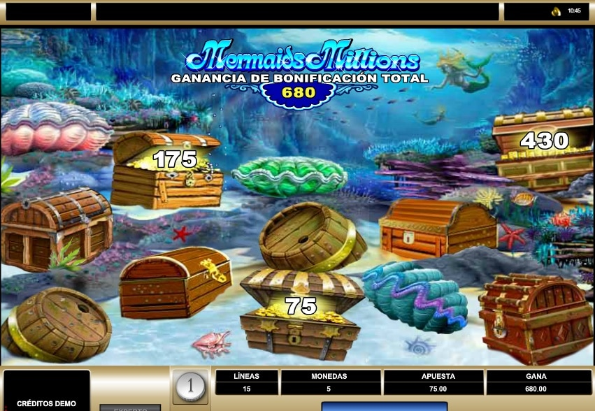 Mermaids Millions juego de bonificación
