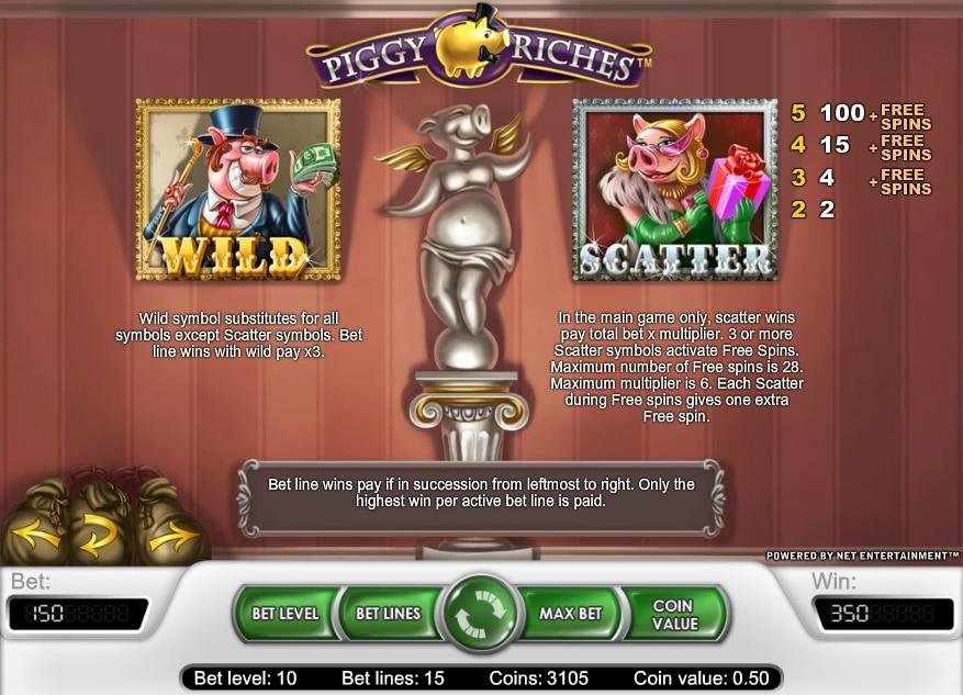 Piggy Riches premios