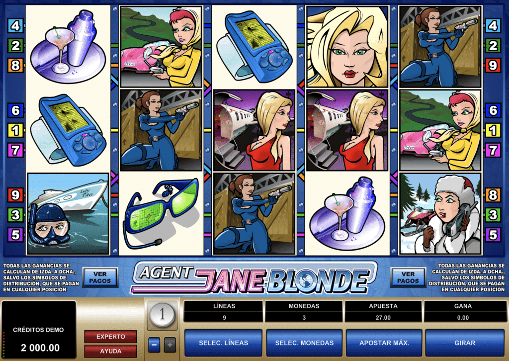 Agent Jane Blonde tragaperras