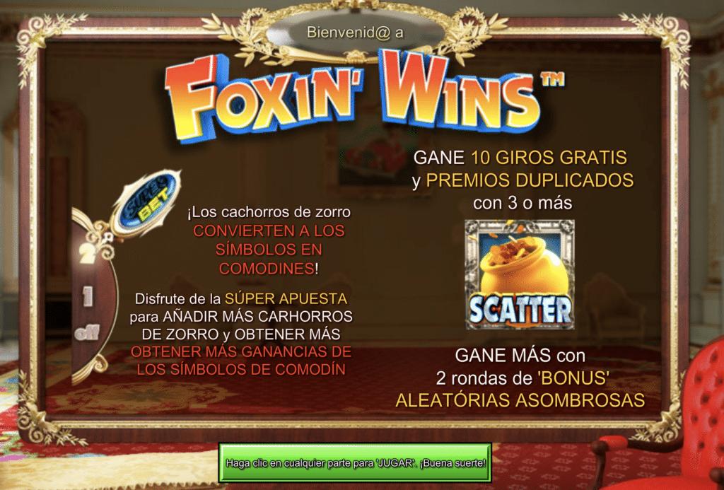 Foxin Wins premio