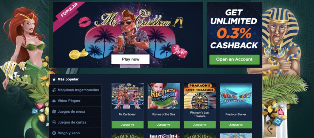 Pinnacle Casino juegos