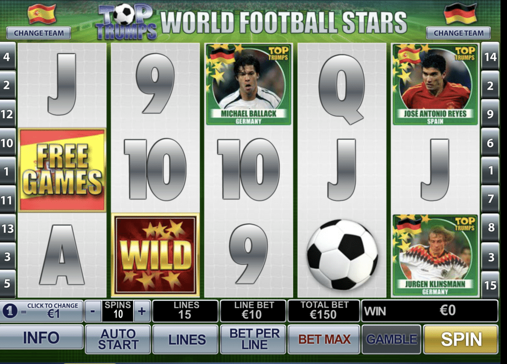 Top Trumps World Football Stars tragaperras