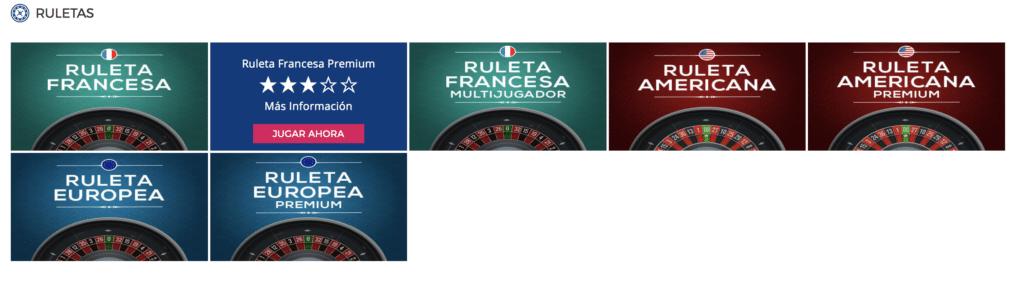 Casino Gran Madrid ruletas