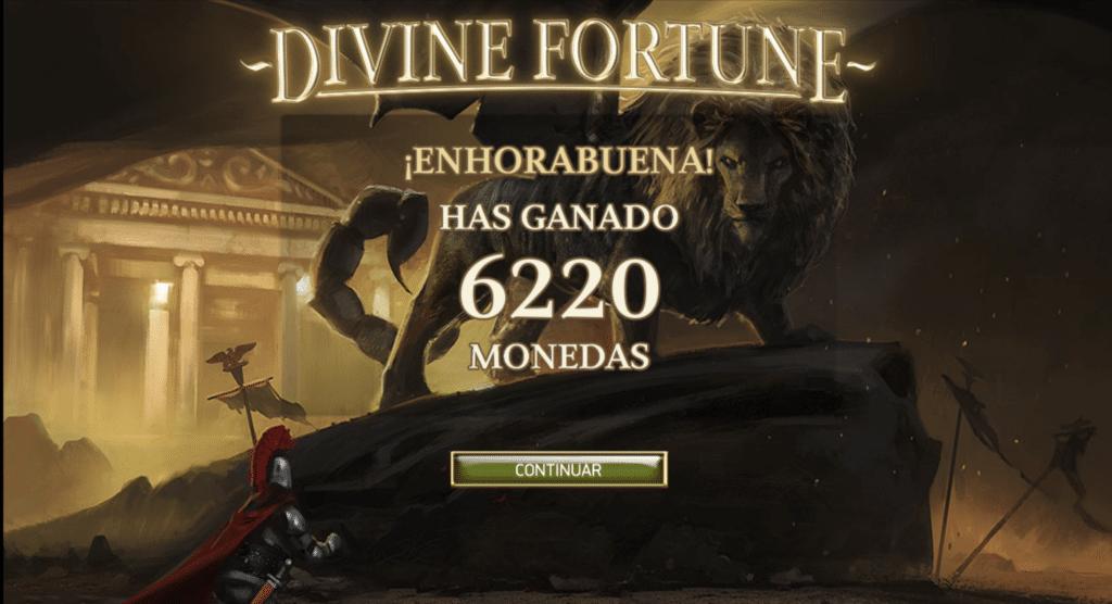 Divine Fortune gran premio