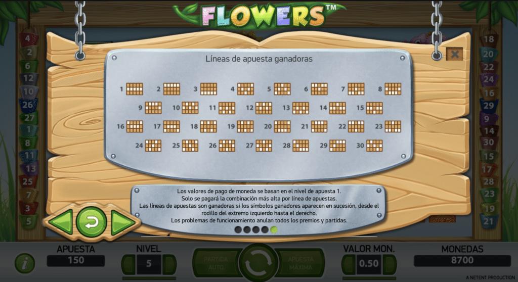 Flowers líneas de pago