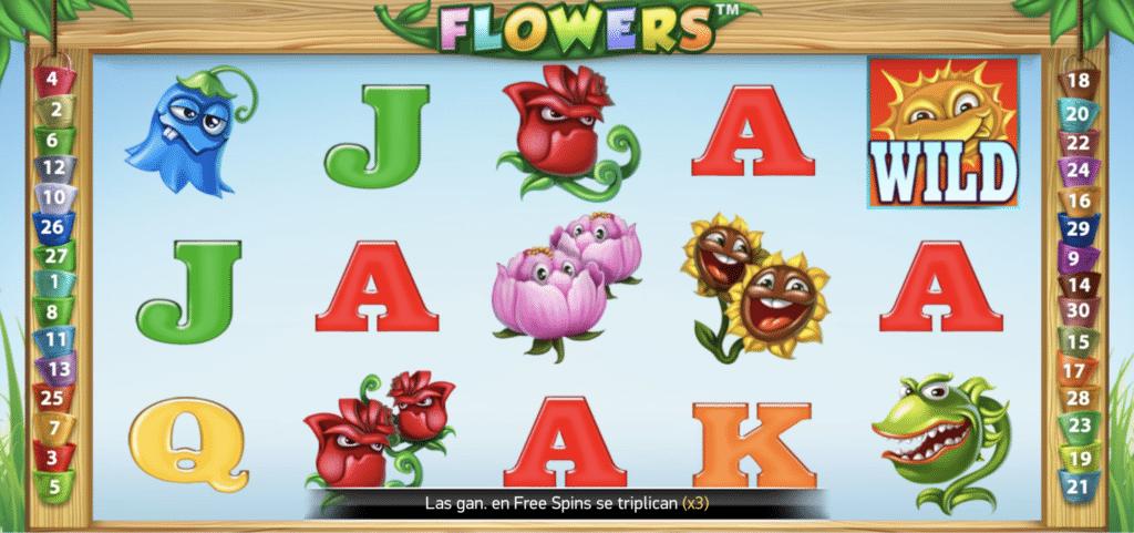 Flowers tragaperras