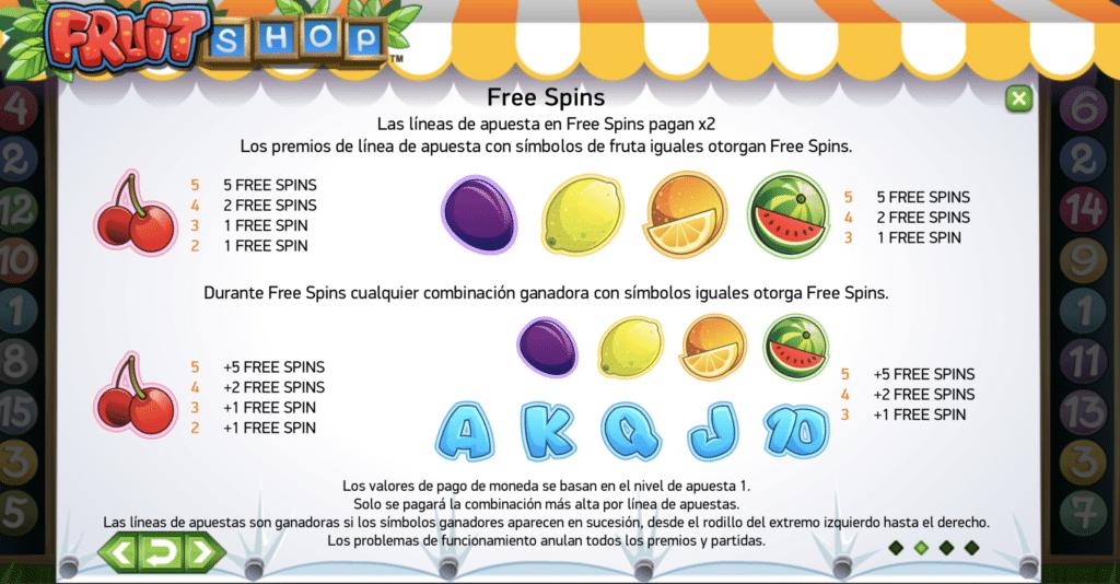 Fruit Shop premios